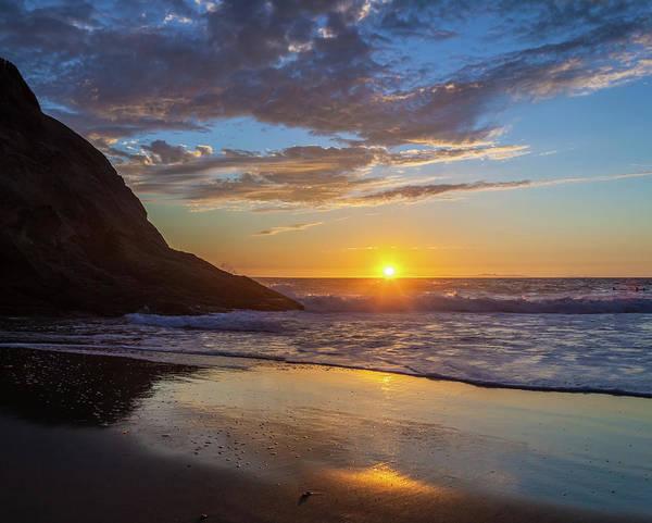 October Sunset Strands Beach Art Print