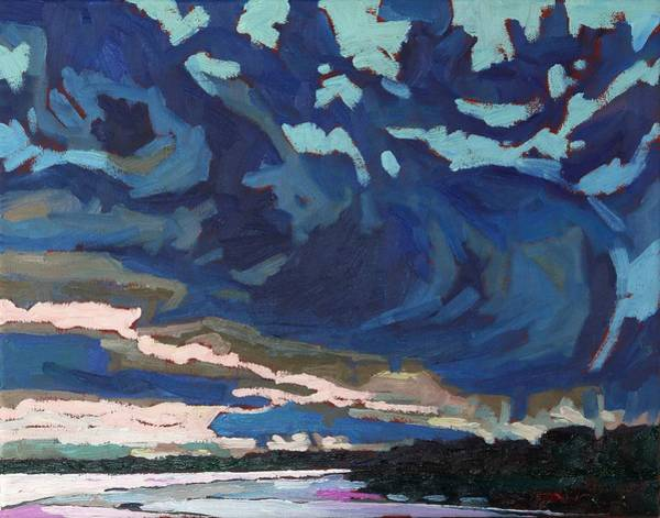 Stratocumulus Painting - October Virga by Phil Chadwick