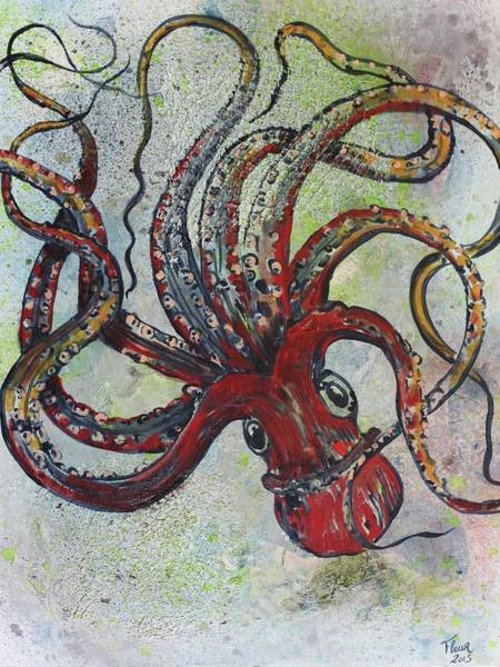 Fairy Cakes Painting - Octopus by Fleur Spolidor
