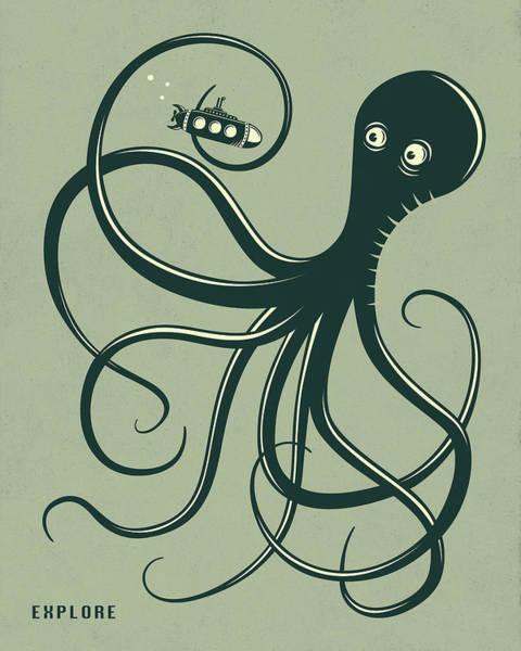 Fish Digital Art - Octopus by Jazzberry Blue