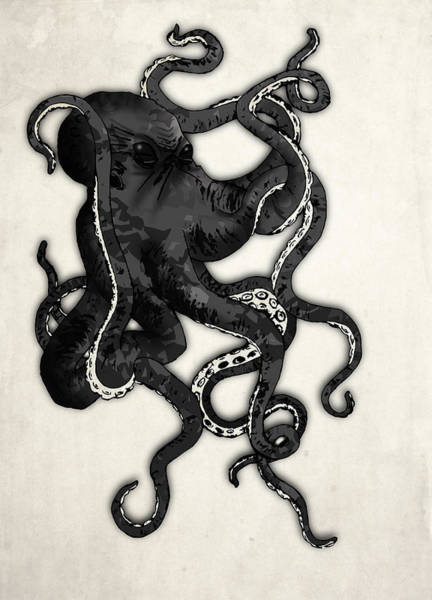 Skulls Wall Art - Digital Art - Octopus by Nicklas Gustafsson