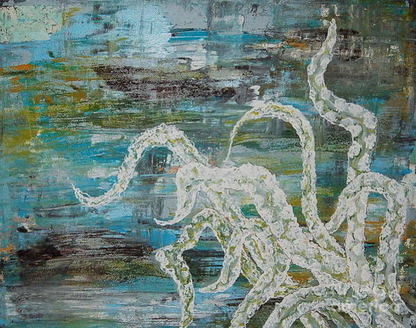 Painting - Octopus Of The Deep by Tamyra Crossley