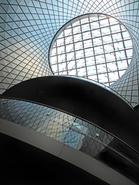 Photograph - Oculus Abstract Blue by Jessica Jenney