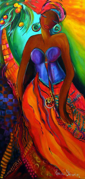 Mama Africa Wall Art - Painting - Odalique by Ronnie Biccard