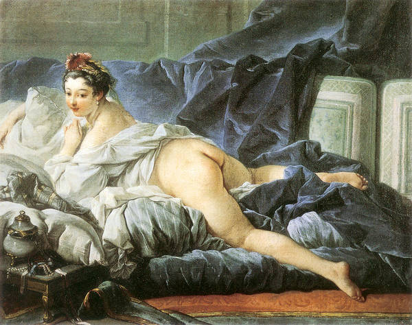 Spread Painting - Odalisque 1745 by Francois Boucher