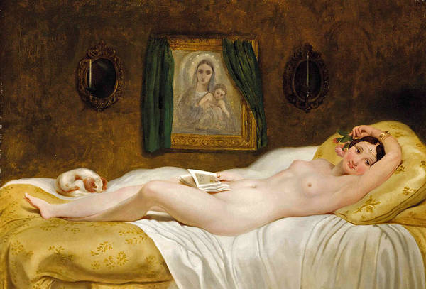 Wall Art - Painting - Odalisque by Philippe-Jacques van Bree
