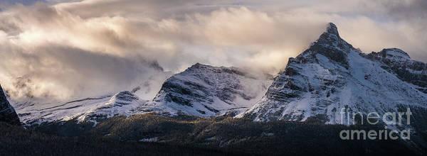 Vermillion Lakes Wall Art - Photograph - Odaray Mountain Range Canadian Rockies by Mike Reid