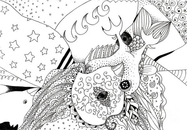Drawing - Odd 2 by Helena Tiainen