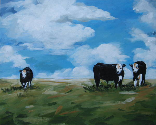 Painting - Odd Cow Out by Outre Art  Natalie Eisen