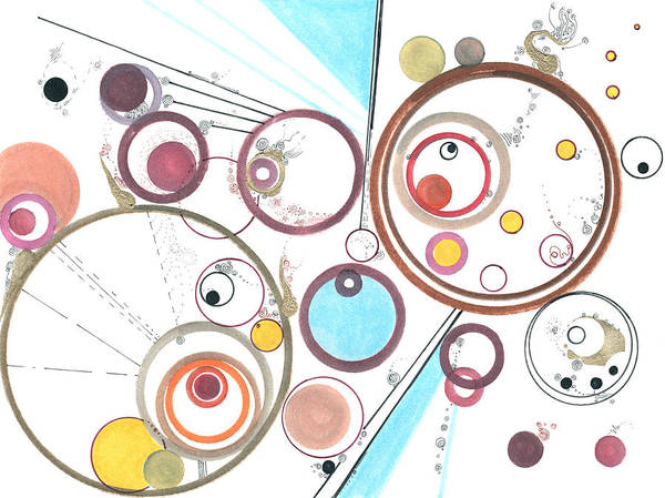 Drawing - Odd Encapsulations by Regina Valluzzi