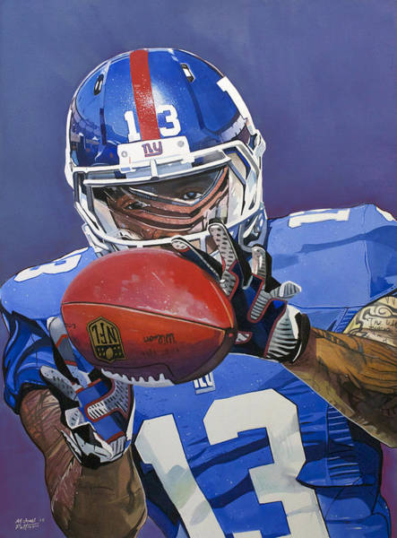Draft Painting - Odell Beckham Jr. Catch New York Giants by Michael Pattison