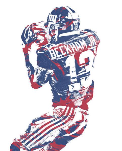 Wall Art - Mixed Media - Odell Beckham Jr New York Giants Pixel Art 40 by Joe Hamilton
