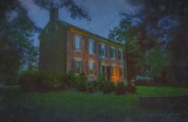 Painting - Odessa Colonial House At Night by Bill McEntee