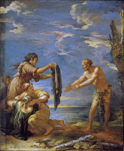 Odysseus Painting - Odysseus And Nausicaa by Salvator Rosa