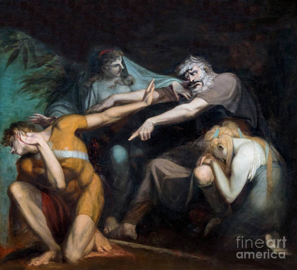 Oedipus Cursing His Son, Polynices Art Print