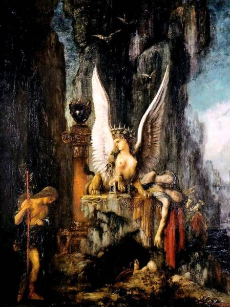 Painting - Oedipus The Wayfarer  by Gustave Moreau