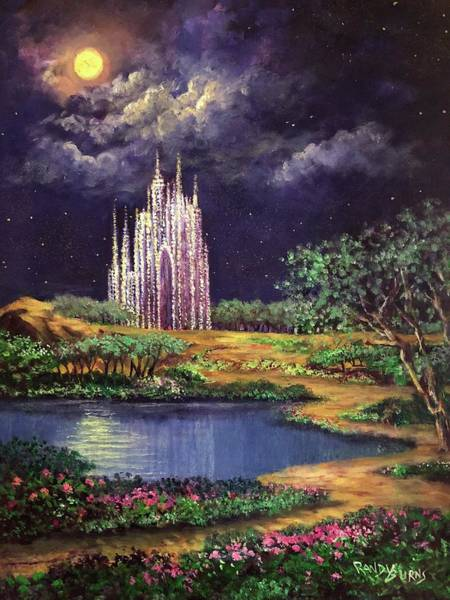 Of Glass Castles And Moonlight Art Print
