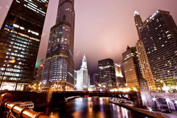 Chicago Tribune Wall Art - Photograph - Of Liquid And Steel by Daniel Chen