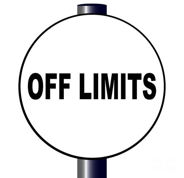 No Entry Digital Art - Off Limits Sign by Bigalbaloo Stock