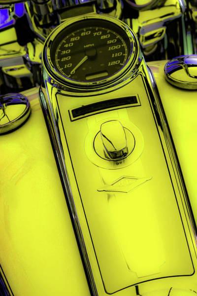 Photograph - Off Neon Lemon Peel 4419 G_2 by Steven Ward