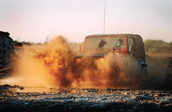 Photograph - Off Road Mud Splash-1 by Steve Somerville