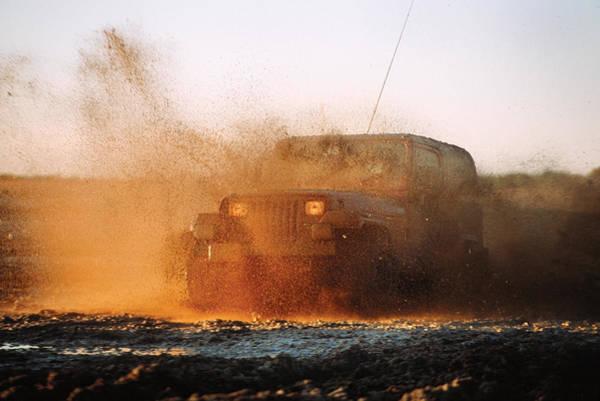 Photograph - Off Road Mud Splash-2 by Steve Somerville