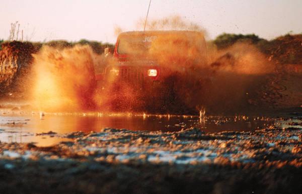 Photograph - Off Road Mud Splash-3 by Steve Somerville