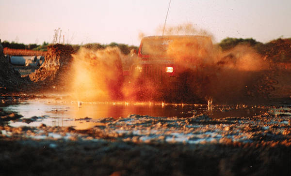 Photograph - Off Road Mud Splash-4 by Steve Somerville