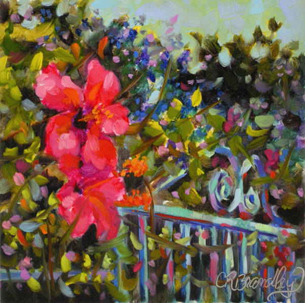 Hibiscus Flower Painting - Off The Beaten Path by Chris Brandley