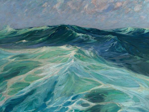 Wall Art - Painting - Off The Florida Coast by Charles Herbert Woodbury