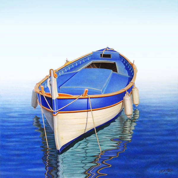 Fishing Boat Painting - Off The Mist by Horacio Cardozo