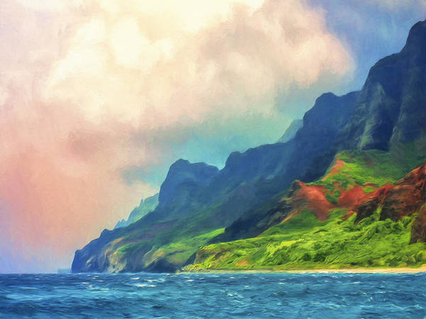 Painting - Off The Na Pali Coast Of Kauai by Dominic Piperata