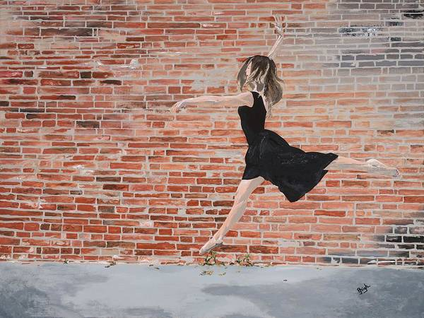 High Jump Painting - Off The Wall by GG High