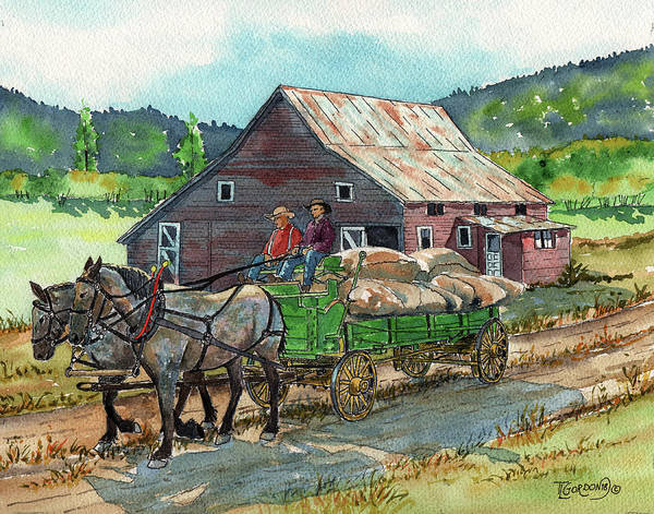Wall Art - Painting - Off To Market by Timithy L Gordon