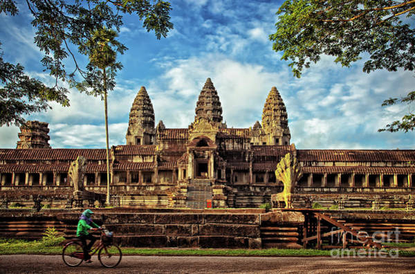 Photograph - Off To The Side In Angkor Wat Temple, Siem Reap Province, Cambodia by Sam Antonio Photography