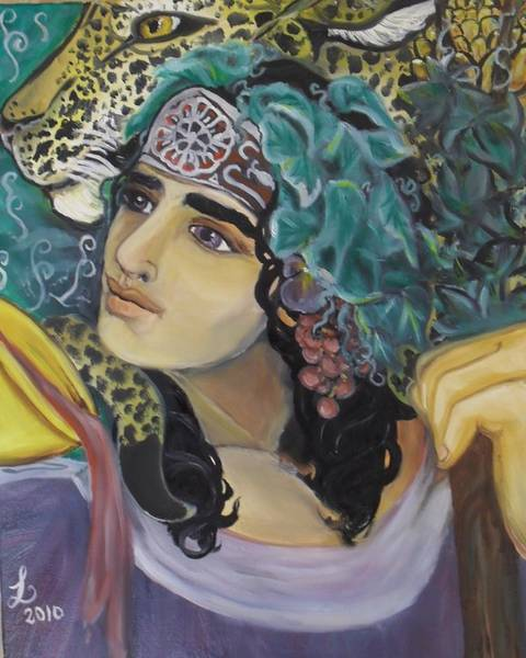 Samantha Painting - Offering Of Dionysos by Samantha Sanders