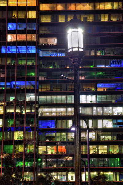 Photograph - Office Building At Night - Boston, Ma by Joann Vitali