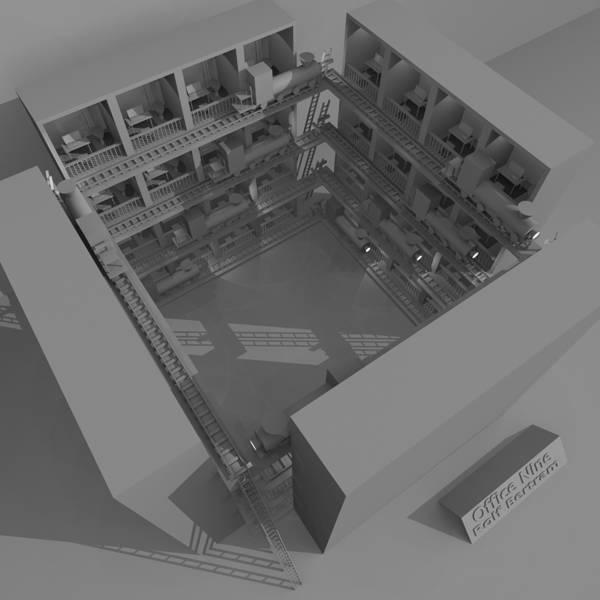 Digital Art - Office Nine by Rolf Bertram