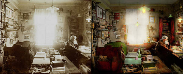 Photograph - Office - Ole Tobias Olsen 1900 - Side By Side by Mike Savad