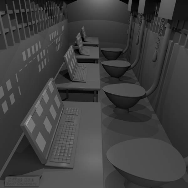 Digital Art - Office One by Rolf Bertram