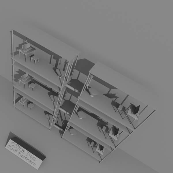 Digital Art - Office Two by Rolf Bertram