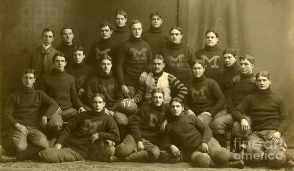 Painting - Official Photograph Of 1899 Michigan Wolverines Football Team by Celestial Images