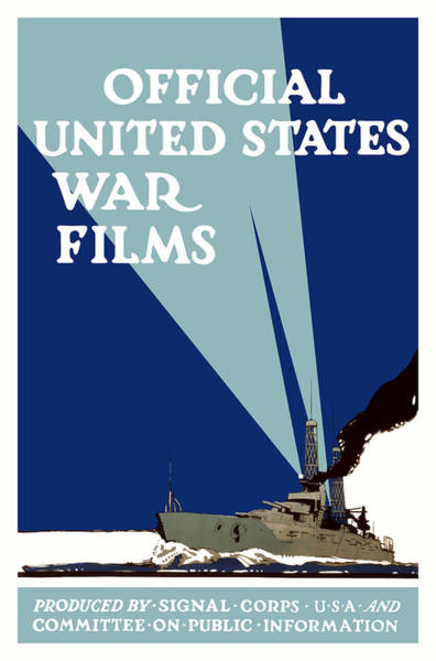 Wwi Wall Art - Painting - Official United States War Films by War Is Hell Store