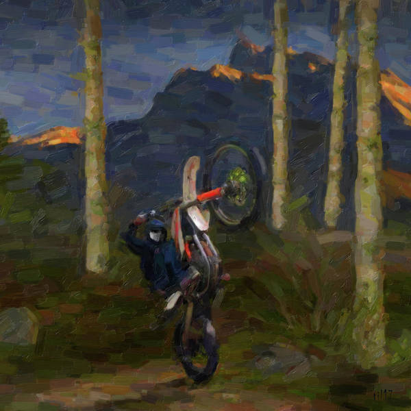 High Jump Painting - Offroad by Tilly Williams