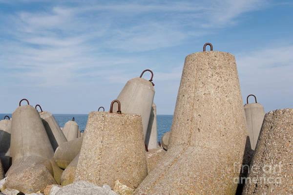 Wall Art - Photograph - Offshore Breakwater Tetrapod Blocks by Arletta Cwalina