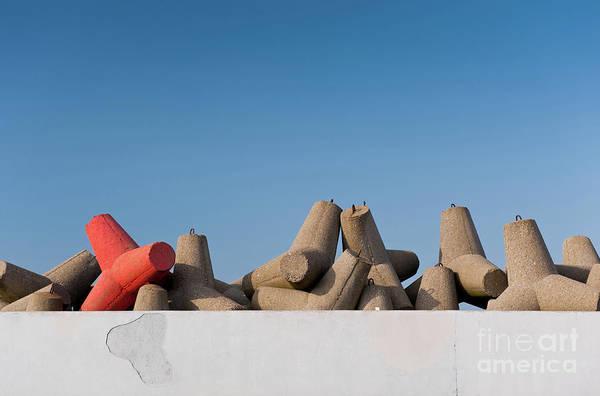Wall Art - Photograph - Offshore Breakwater Tetrapods Abstract by Arletta Cwalina
