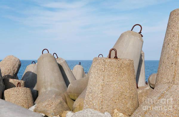 Wall Art - Photograph - Offshore Breakwater Tetrapods Closeup by Arletta Cwalina