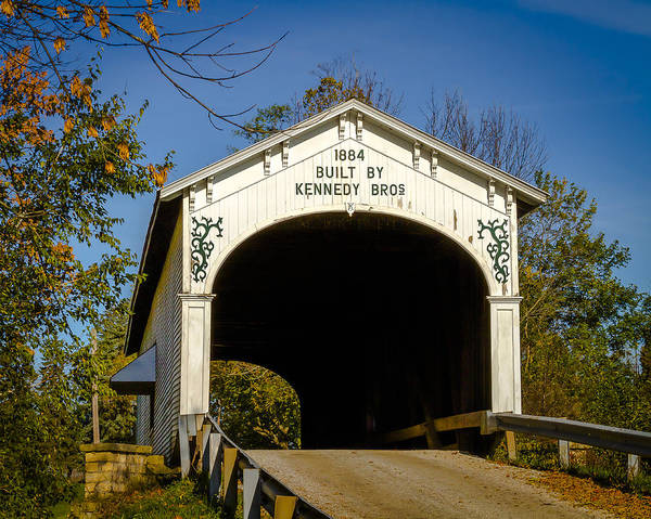 Photograph - Offutt's Ford Covered Bridge by Jack R Perry