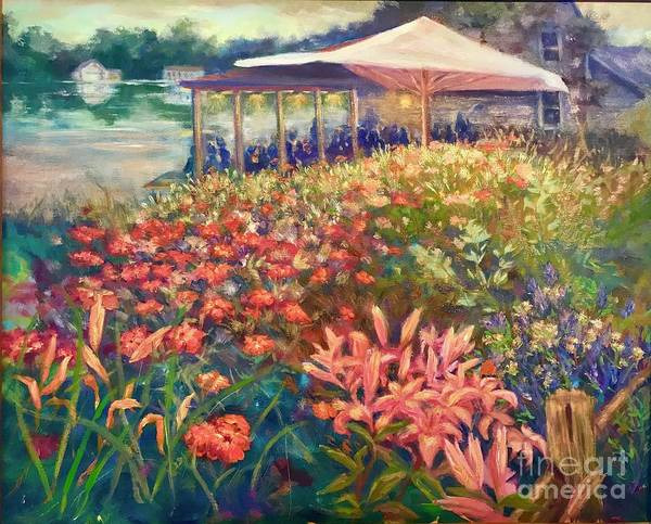 Painting - Ogunquit Gardens At Waterside Restaurant by Gail Allen