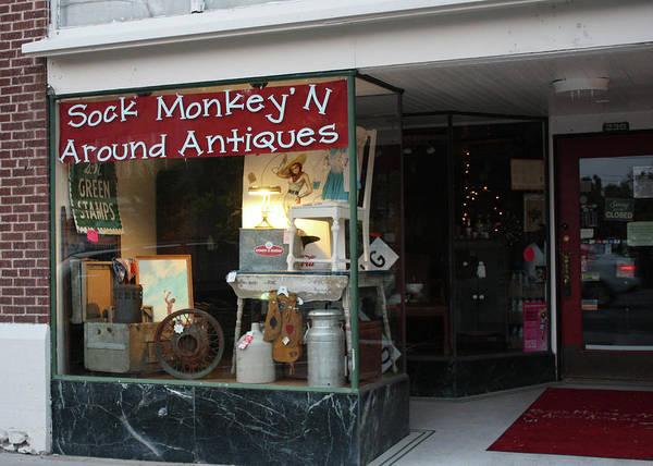 Sock Monkey Photograph - Ogden Utah Antiques by Ely Arsha